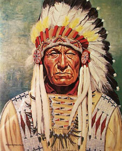 """Dewey Beard, Minneconjou, Lakota,"" oil painting by David Humphreys Miller. (photo submitted)"