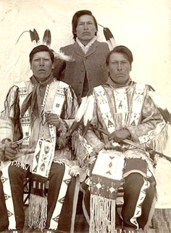 Dewey Beard (seated, right) with brothers White Lance and Joseph Horn Cloud. (photo submitted)