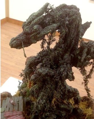 A dragon disguised as a tree crashes a picnic. Foam sculpture by Mr. E. (Photo submitted)
