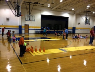 Lincolnview Kindergarten and First Grade students are currently participating in their annual bowling program. (All photos submitted.)