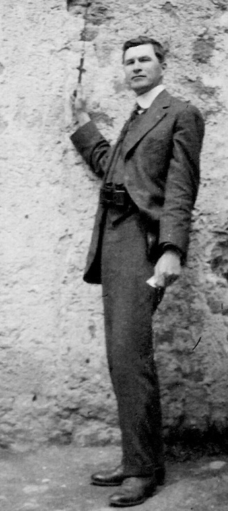 A stylish Charles Wassenberg as a young man, traveling in Mexico.