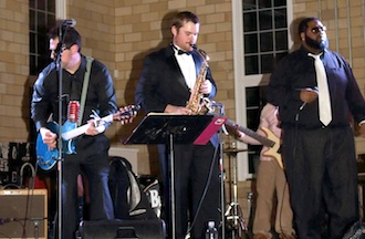 "Weston Thompson of Van Wert jams with Toledo band Distant Cousinz at ""The Big Wassky."" (Photo submitted.)"