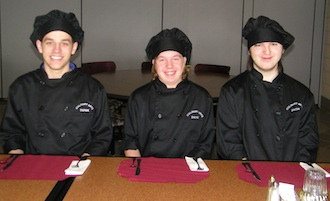 The Vantage Culinary Arts Meeting Event Set-up Team of Derek Foy, David Fisher, and Zach Wilkes. (Photo submitted.)