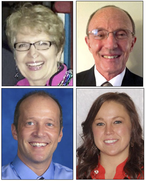 Peony Pageant judges include (clockwise from top left) Becky Goshorn, Steve Keller, Meggan Yahl and Todd Schreiber.