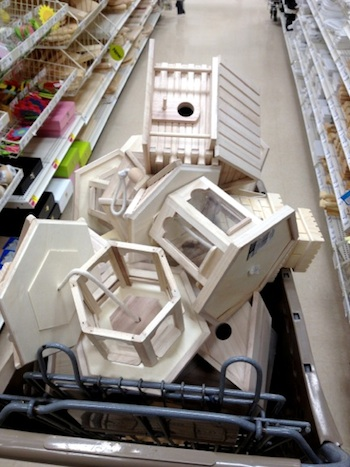A cart full of birdhouses will provide area artists an object to paint or decorate for the annual Wassenberg fundraising project. Finished birdhouses will be available at silent auction on June 7. (Photo submitted.)