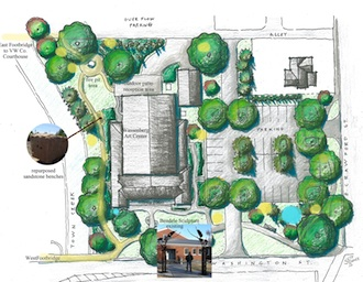 Landscape plan for the Wassenberg Art Center park area. Design by Seth Baker. (Photo submitted.)