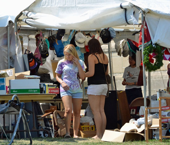 This yard sale at First Presbyterian Church is just one of many sales