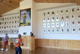An exhibit by the late David Humphreys Miller of Van Wert is housed at Crazy Horse Memorial in Custer, S.D. (Photo submitted.)