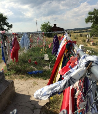 The mass grave at Wounded Knee, on the Pine Ridge Indian Reservation in S. D. (Photo submitted.)