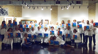 Vine & Palette painting sessions are a fun and effective team-building exercise for corporate gatherings. Central Insurance recently hosted agents from all over the country. (Photo submitted.)