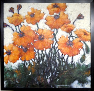Acrylic painting of poppies by new Wassenberg Art Center instructor Kathy Funderberg of Bryan. Kathy will begin teaching a painting class for artists 15 year and up on Feb. 10 at 5:30 p.m. (Photo submitted.)