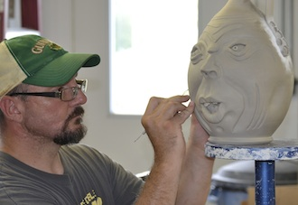 """Brandon Knott of Continental, proprietor of """"It's Knott Pottery,"""" will teach a pottery class at the Wassenberg Art Center beginning in February. (Photo submitted.)"""