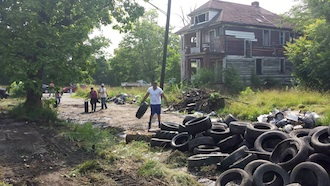 Detroit resilient residents are beginning to emerge. Neighborhoods are beginning to clear away, plant and clean up vacant spaces.   (Photo submitted.)