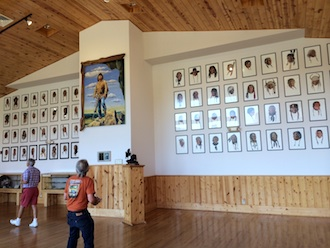Portraits (prints) of the 72 survivors of the Battle of Little Bighorn by former Van Wert, native David Humphreys Miller are housed in the main gallery at Crazyhorse Memorial in Custer South Dakota. The portraits overlook the memorial. (Photo submitted.)