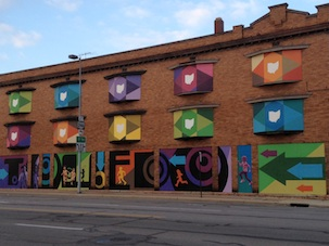 A revitalized building in downtown Toledo which is overseen by the Live, Work, Create Toledo artist group. (Photo submitted.)