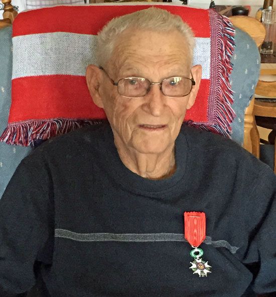 Local World War II veteran Richard Beach wears his French Legion of Honor medal. (photo submitted)