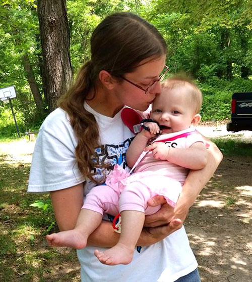Christine Miller today with her young daughter, Jayden. (photo submitted)