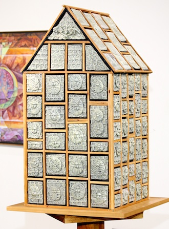 """""""Temple of 1000 Thoughts,"""", a mixed media piece  by Robert Minto,  won the top award in the 59th Annual June Art Exhibit at the Wassenberg Art Center. Over $1,500 in prize money is awarded to regional artists who compete in the juried and judges exhibit. (Photo submitted.)"""