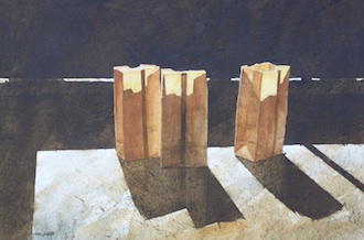 Luminaries, chosen by the Ohio Watercolor Society was created by watercolorist, Allen Hutton. Hutton is leading a watercolor workshop at the Wassenberg Art Center. (Photo submitted.)