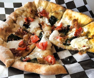 Wood-fired pizza by Pizza Diva of Fort Wayne, Ind., will be available during the Eats on the Streets event on July 11 at the Wassenberg Art Center.  (Photo submitted.)