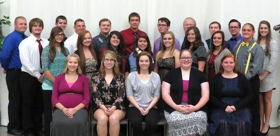 Newly inducted members of the Vantage 2015-2016 National Technical Honor Society. (Photo submitted.)