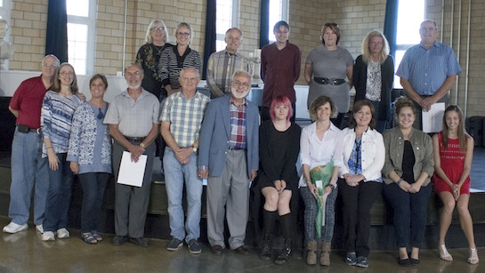 Some of the photographers who received awards at the recent October Photo Exhibit reception. (Photo submitted.)