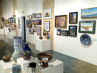 A sampling of the items available for sale at the Wassenberg Art Center through Dec. 18. (Photo submitted.)