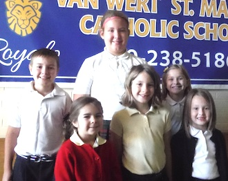Congratulations to the Friendship Award Winners.  Shown are (Front Row from Left) Allison Spieles, Amelia Magner, Kati G. (Back Row) Tyler S., Erin S., and Lindsay Hatcher. (Photo submitted.)