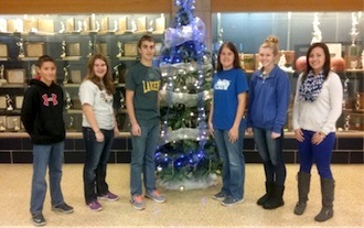 December Students of the Month for Lincolnview:  These students were chosen because the always show a giving attitude with their words and actions.  7th Landon Moody, 8th Hanna Scaggs, 9th Austin Welker, 10th Sydni Thatcher, 11th Brooke Thatcher and 12th Whitney Welker.  (Photo submitted.)
