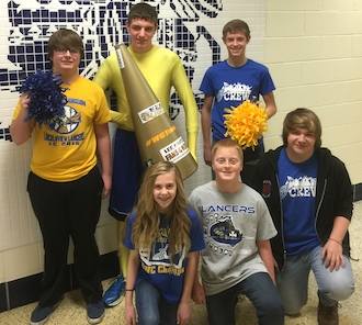 January Students of the Month:  Row one:  8th- Victoria Snyder, 7th - Aaron Cavinder and 10th- Hunter Maunz.  Row two:  11th- Jacob Bradford, 12th - Louis Crow and 9th - Alek Bowersock.  (Photo submitted.)