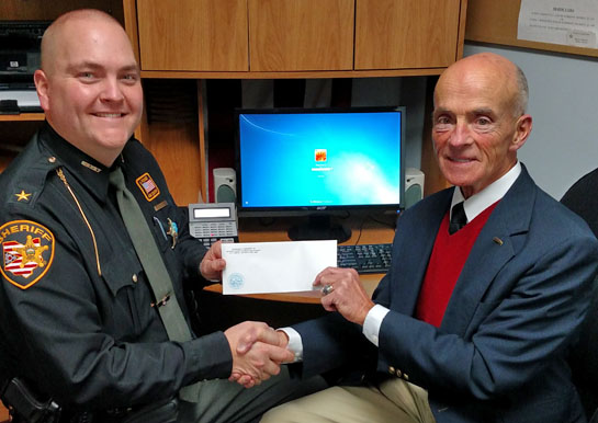 Kennedy gives VWSO donation 2-2016