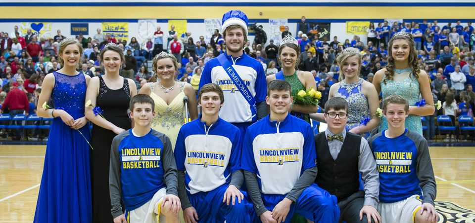 Lincolnview Homecoming court2 2-5-16