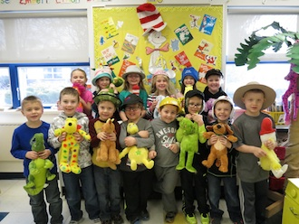 Mrs. Bowersock's kindergarten class wore hats in celebration of Dr. Seuss week.  This week they will be reading lots of Dr. Seuss stories, making crafts, making green eggs and ham, and writing to the Cat in the Hat to convince him to wear the hat they created for him.  (Photo submitted.)