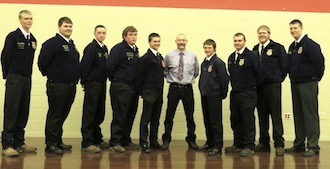 Vantage FFA newly inducted officers are pictured with their teacher, Mike Miller. (Photo submitted.)