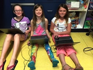Lincolnview third grade students enjoy working on their new Chromebooks. The school has been using the Chromebooks to prepare students for state assessments. The school acquired this equipment about six weeks ago and students have adapted well to these helpful devices. (Photo submitted.)