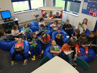 Tonja Debell's second grade class is shown getting ready for story time. (Photo submitted.)