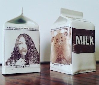Ceramic Art Milk Carton fundraiser launched at Wassenberg Art Center to help fund youth programming. (Photo submitted.)