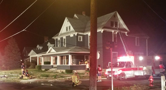 House fire at 233 South Ave. 7-24-16