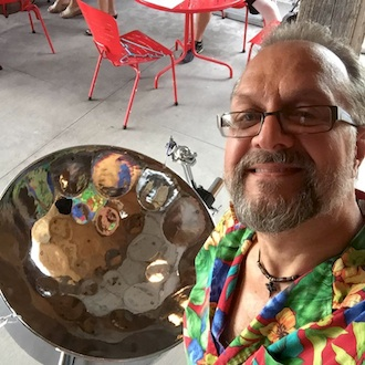 Pan Man Dan steel drum musician of Fort Wayne, Ind., local Gibson BBQ and High Five Lunch of Indianapolis will be featured at the first 4-Friday Farm & Art Market on Friday, July 30 from 11 a.m. -3 p.m. at the Wassenberg Art Center. (Photo submitted.)