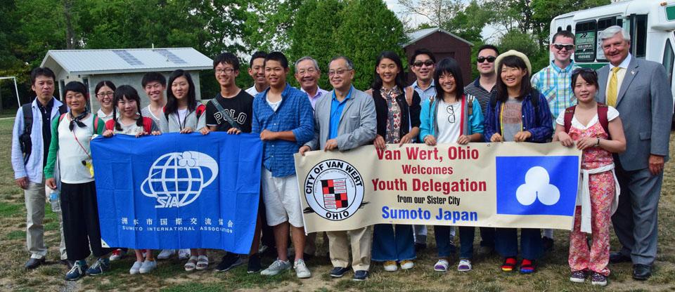 Sumoto delegation at Camp Clay 7-2016