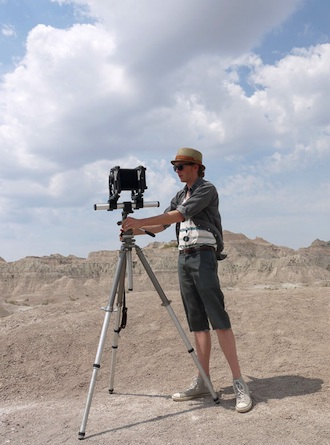 California photographer Mark Lanning Jr. is shown shooting photographs in the Black Hills in 2014. (Photo submitted.)