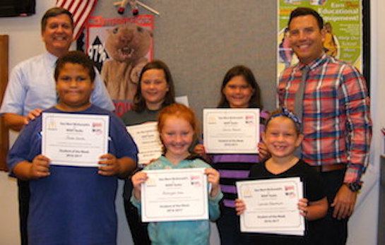 "(Photo caption) Congratulations to the Van Wert Elementary Students of the Week! These students were chosen for the Word of the Week, ""Kindness"", and received a free Mighty Kids Meal from our local McDonalds and a certificate from WERT Radio. (Photo submitted.)"