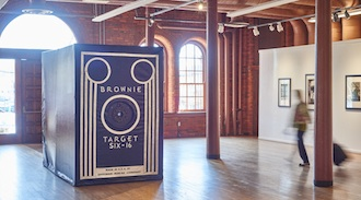 This huge working Brownie camera will be on display at the Wassenberg Art Center. See article for details.  (Photo submitted.)