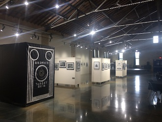 The Brownie in Motion is a room-sized replica of one of the first point and shoot cameras. This forerunner of the phone camera will be on display through Sept. 15 at the Wassenberg Art Center. (Photo submitted.)