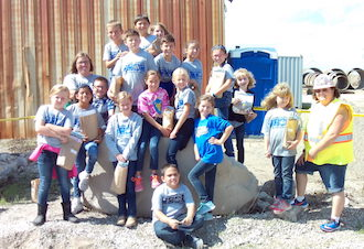 The third grade class visited Stoneco Quarry.  (Photo submitted.)