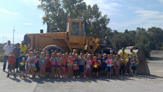 Children on a field trip to the Stoneco Quarry.  (Photo submitted.)