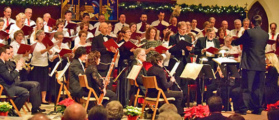 This photo is from the 2014 performance of Handel's Messiah. (photo submitted)