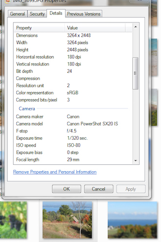 Photo B: Illustrates the information about the pictures saved on your hard drive. (Photo submitted.)