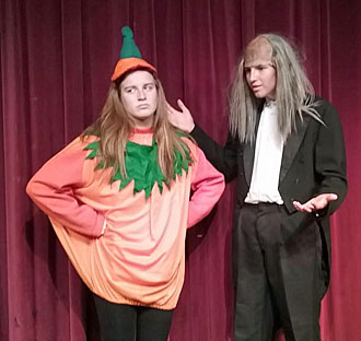 "Alana Williams and Dylan Neate will host Lincolnview Theatre's upcoming fall production: ""A Frightening Night of Comedy."" (photo submitted)"