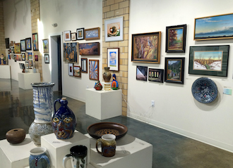 Many different types of art and handmade items will be on sale in time for the holiday season at the Wassenberg art center during the 27th Annual Member Artists' Exhibit & Sale at the Wassenberg Art Center. This is a view of last year's exhibit.  (Photo submitted.)